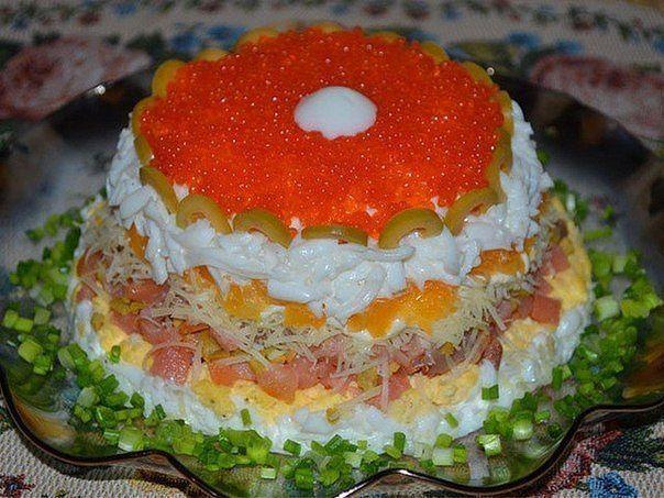 15 невероятно вкусных салатов для праздничного стола - Простые рецепты Овкусе.ру салат Жемчужина