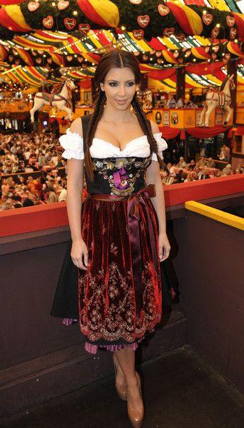 Dress like the stars in the same oktoberfest dress that Kim Kardashian wore in 2010!
