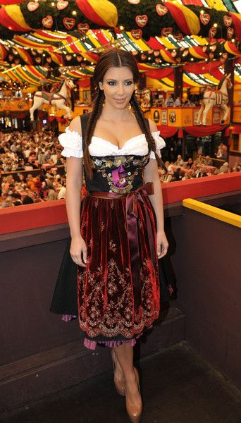 Dress like the stars in the same oktoberfest dress that Kim Kardashian wore in 2010!