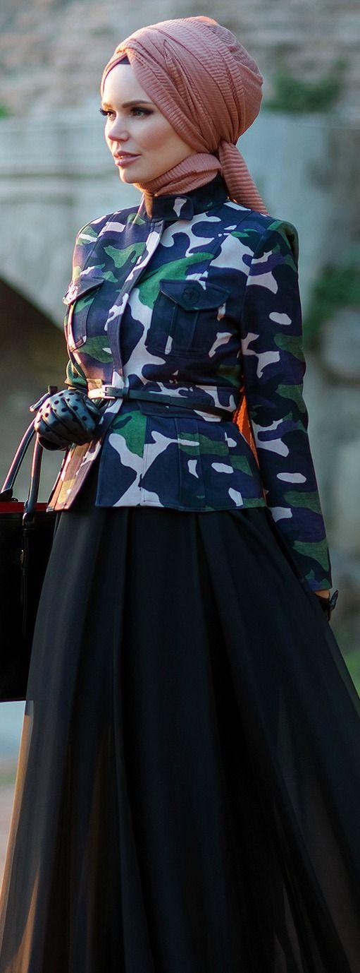 Muslima Wear Black Skirt