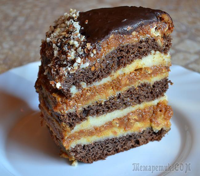 Этот торт перемазывается двумя видами крема. Получается на вид,как будто многослойный. Очень вкусный и необычный. Но конечно готовится он не за пять минут, нужно немножко попыхтеть)Для коржей нам бу...