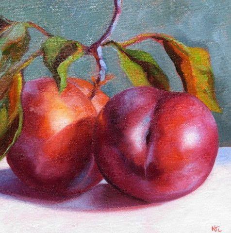 Love this artist! Katie Trinkle Legge: Two Plums, 2012