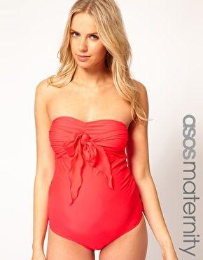 ASOS Maternity - Costume da bagno con fiocco