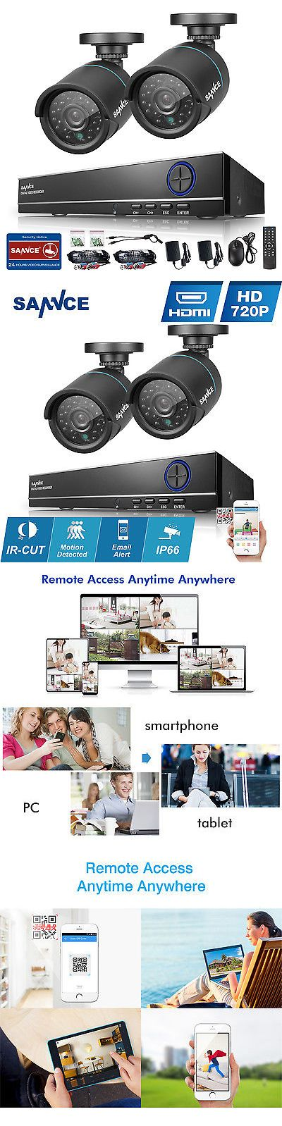 Surveillance Security Systems: Sannce 720P Hdmi 4Ch Dvr 1500Tvl Outdoor Day Night Cctv Security Camera System -> BUY IT NOW ONLY: $58.99 on eBay!