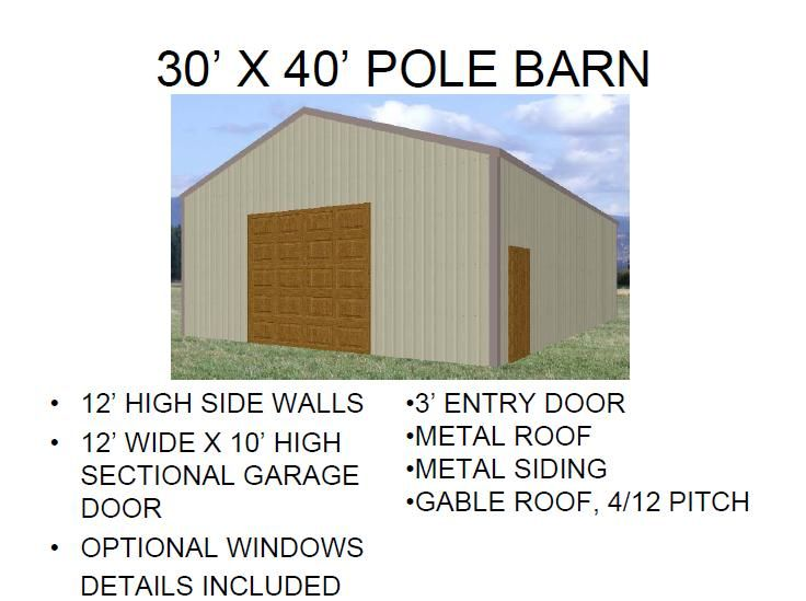 40 X 60 Garage Building Plans Hobies Pinterest