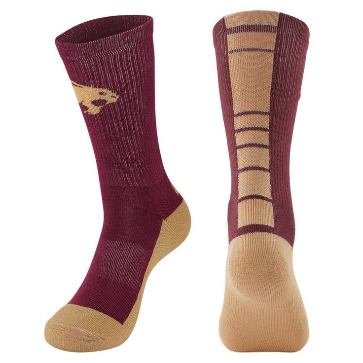 Men's Mojo Texas State Bobcats Champ 1/2-Cushion Performance Crew Socks, Size: 10-13, Dark Red