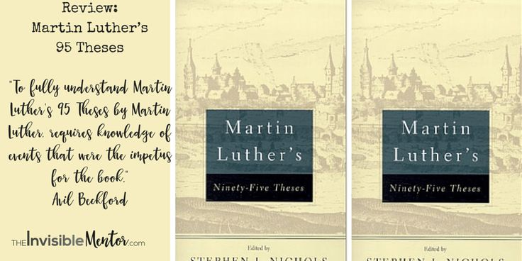 Most people don't realize that 95 Theses sparked the reformation 500 years and ago and gave rise to Protestantism. It almost tore the Catholic church apart. People understand virality, but what you may not know is that Martin Luther's little book went viral. What can we learn from history? Martin Luther's 95 Theses was in response to the selling of indulgences. Click through to read my article Review of Martin Luther's 95 Theses #theclassics.