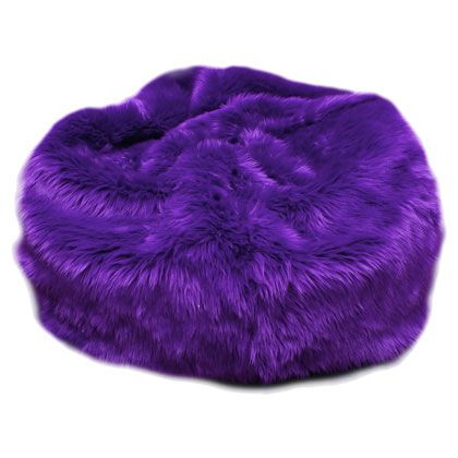 Fuzzy Fur Purple Bean Bag Chair Yessss