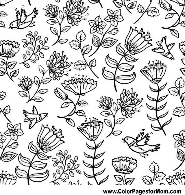 Advanced Coloring Pages Flowers Trees - Worksheet & Coloring Pages