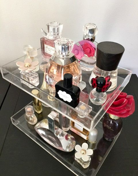The Beauty Cube - Bella Petite 2-Tier Perfume Storage Holder – The Beauty Cube