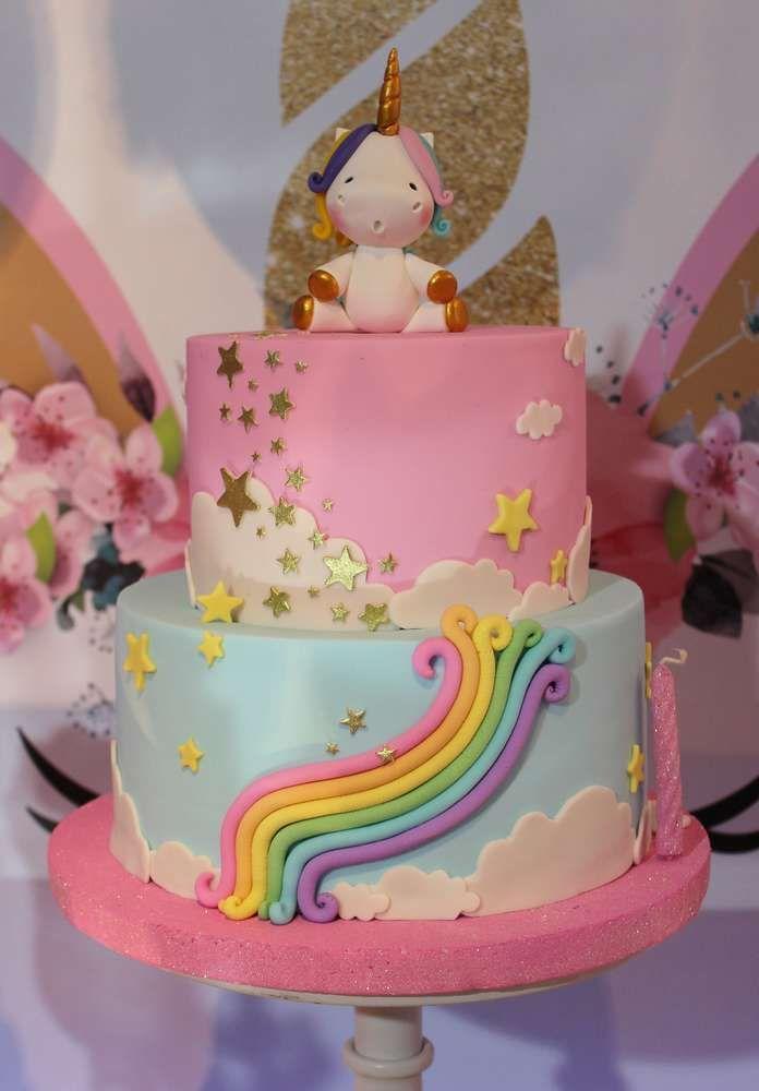 Unicorn Birthday Party Ideas With Images Unicorn Birthday Cake