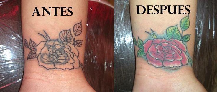 Arreglo Tattoo rosa