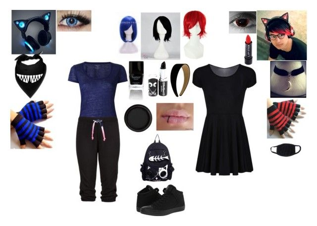 EMO GIRLS by mayleneholm on Polyvore featuring Majestic Filatures, Converse and By Terry