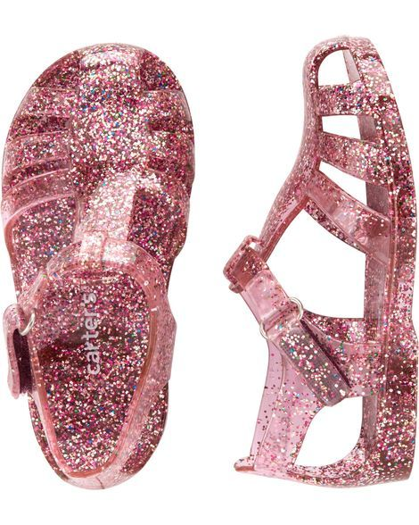 9c5693b4f36804 Toddler Girl Carter s Glitter Jelly Sandals from Carters.com. Shop clothing    accessories from a trusted name in kids