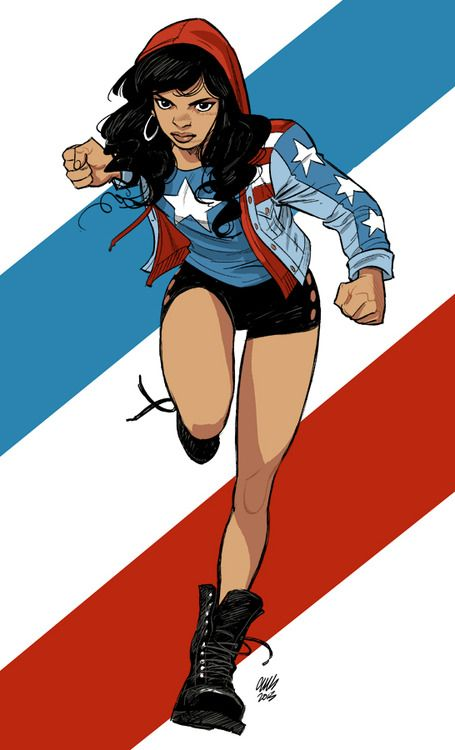 Miss America Chavez (designed by McKelvie) Personal work, 2013
