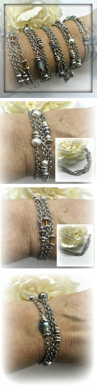 Beaded Bracelets — Stainless Steel, Rhodium, Non-Tarnishing, Gemstones, Crystals, Pearls & More