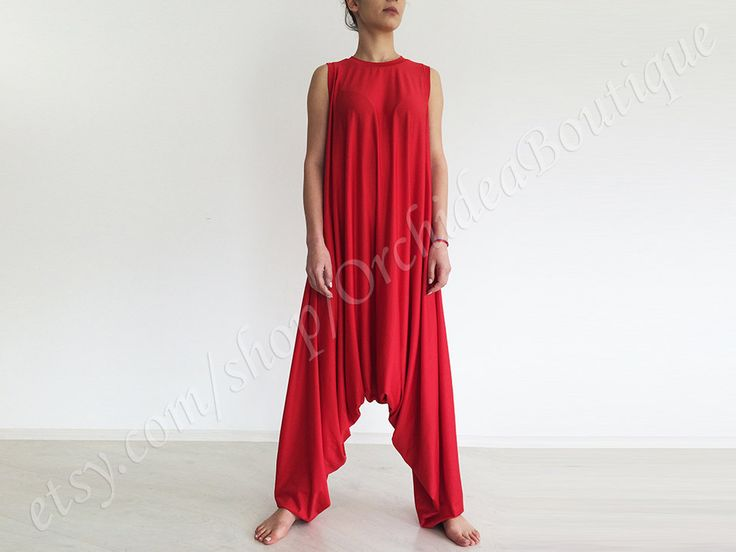 PLAMA jumpsuit red yoga lounge oversized plus by orchideaboutique