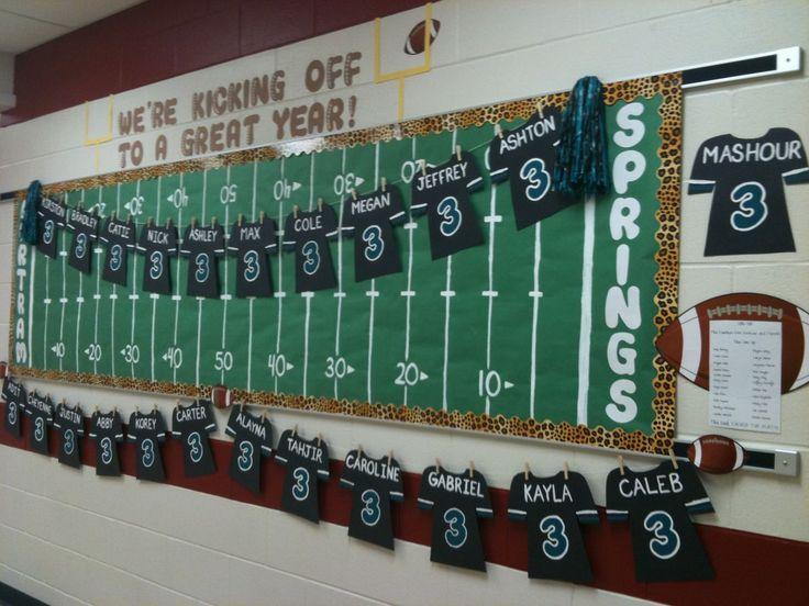 Kicking Off A Great Year Football Bulletin Board - MyClassroomIdeas.com