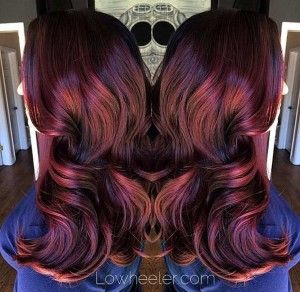 Ruby Red Hair Color Style