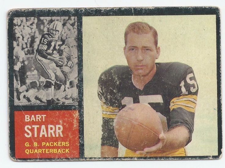 1962 Bart Starr Football Card NFL Hall of Famer #GreenBayPackers