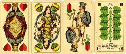 Alta Carta Karty do gry: Krótka Historia Polskich Kart Do Gry Wzor pruski wyprodukowane dla Browaru Ksiazecego w Tychach w 1930r - reprodukcja z 2005r