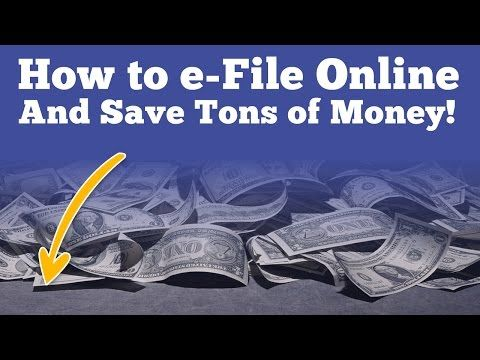 How to e-file Taxes Online