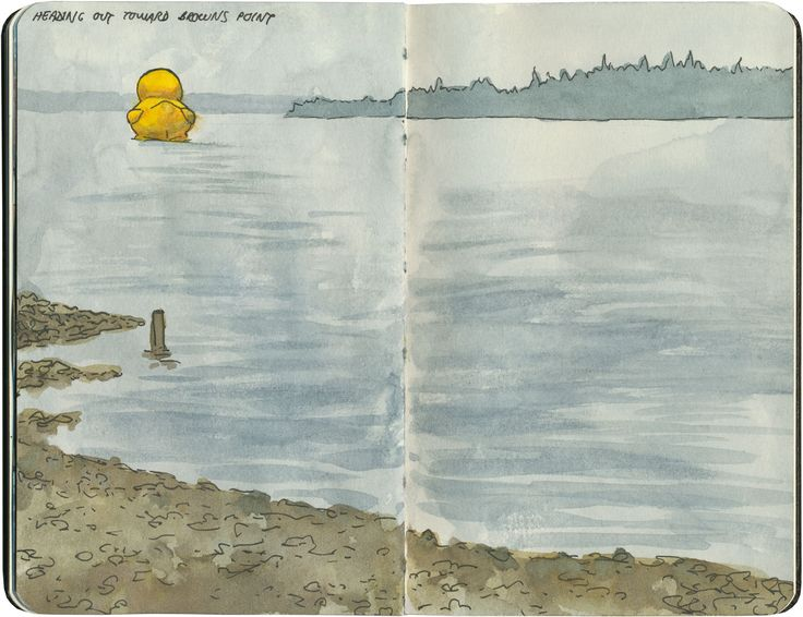 The world's largest rubber ducky, floating out into Commencement Bay, WA.