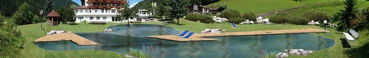 Planung Naturpool für ein Hotel in Südtirol. Progetto di una piscina biologica per un albergo.