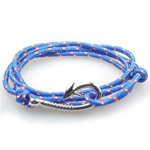how to make a fish hook bracelet