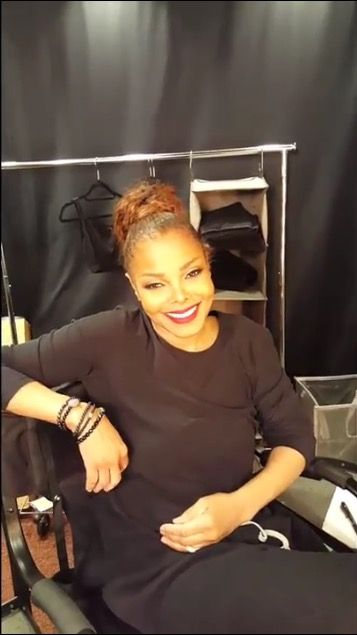 Janet Jackson backstage getting ready for tour 2017