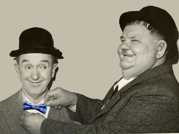 Oliver Hardy Tie Stan Laurel Bow...