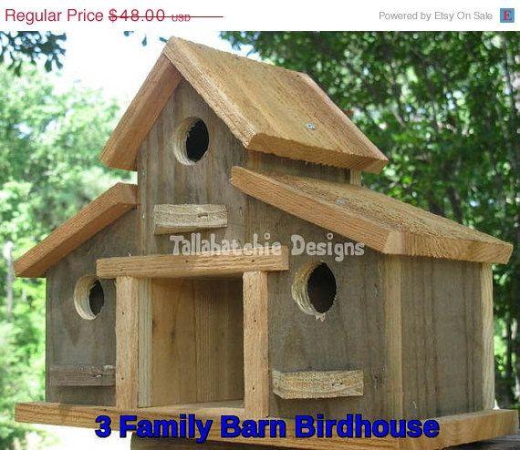 30% OFF TODAY Rustic Barn Birdhouse, Primitive Barn Birdhouse, Barn Birdhouse, Barnwood Birdhouse, Reclaimed Wood Birdhouse,
