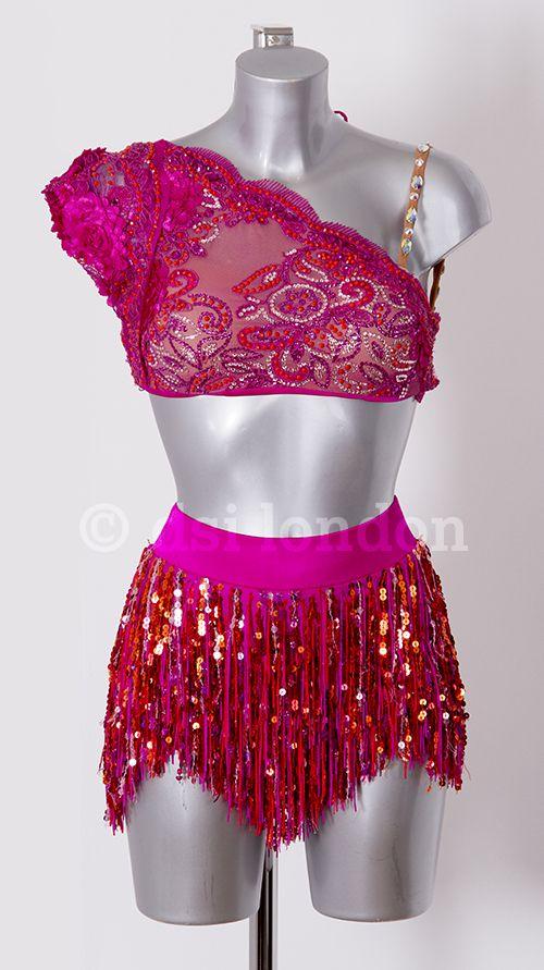 Old Jordan Hawaiian pink Latin dress