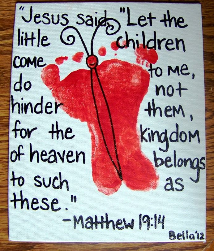 @Cara Fuller Heck. You need this for your Sunday School class. Could be for any day and you could use any verse, I'd think.  Valentine's Day Butterfly Decor with Kid's footprints :). Cute for play room.