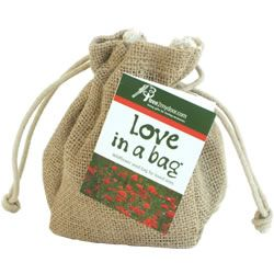 Love in a Bag is a little bag filled with native British Corn Poppy and Corn Cockle wildflower seed. Available to send as a gift to someone YOU love. :) £9.99