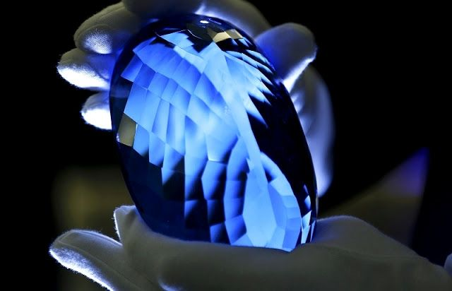 Feast your eyes on the largest blue topaz gemstone in the world | Geology IN