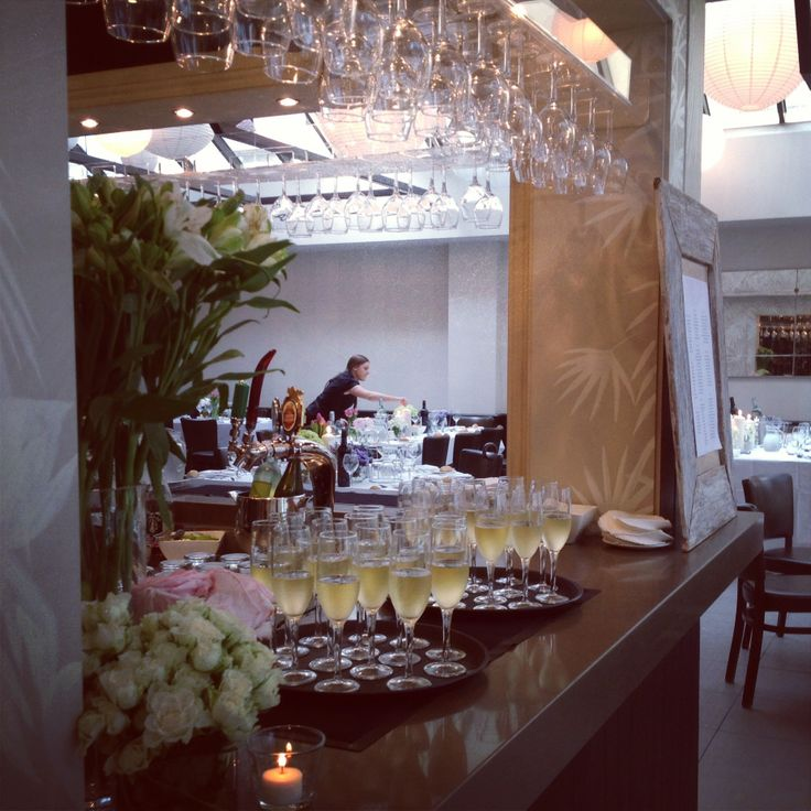 Champagne on arrival is a MUST for any wedding reception - Meredith & Nathan's reception - Nov 13