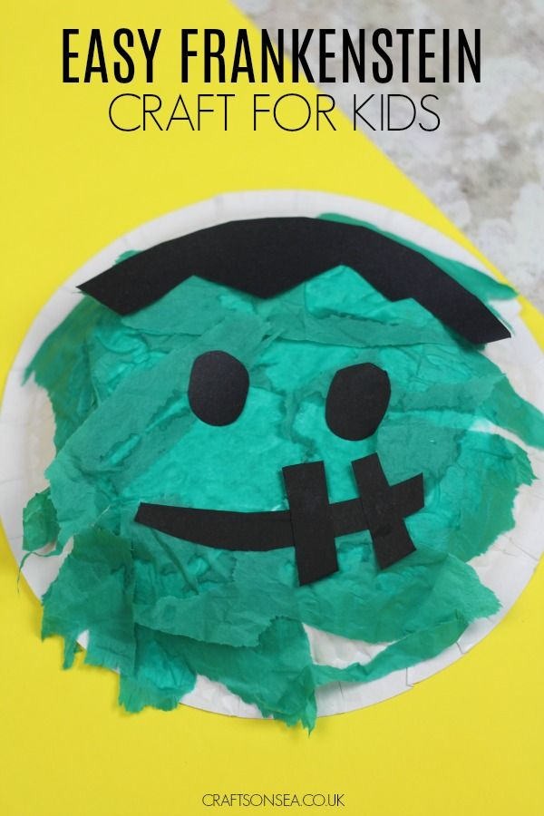 Easy Frankenstein Paper Bowl Craft Kid Blogger Network Activities