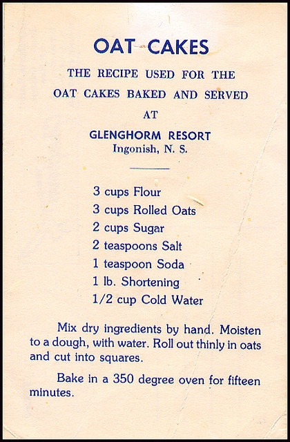 This from the Glenghorm Beach Resort in Ingonish, Nova Scotia These are so So good I always brought some home. Finally on my last trip I asked for the recipe.