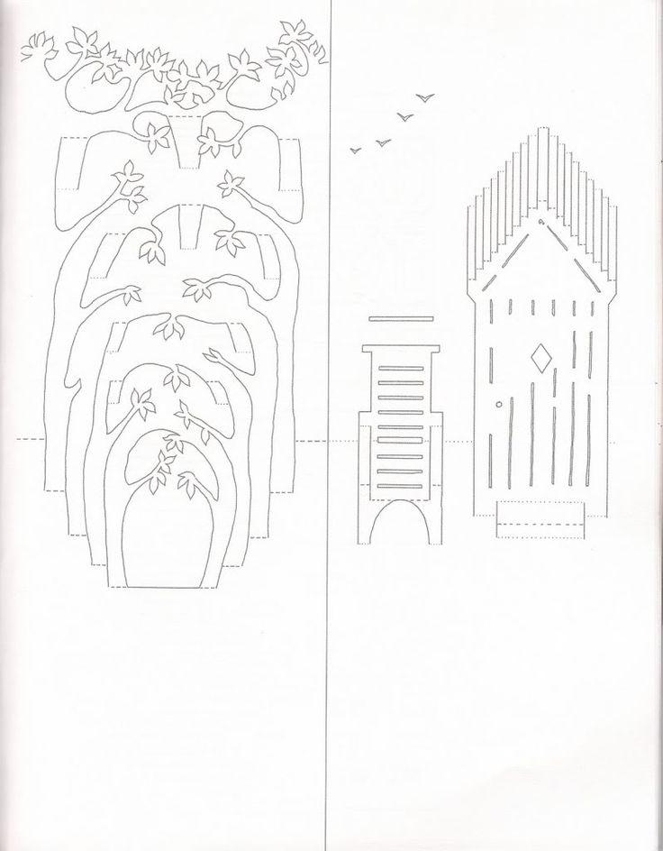 Объемные открытки из бумаги в архитектуре