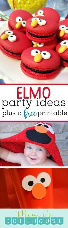 Elmo party ideas.  Easy Elmo Party Decorations and DIY Elmo party treats!  These Elmo party treats are sure to be a hit #easydiypartydecorations