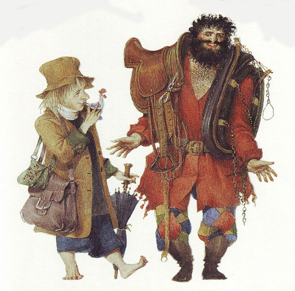 Gennady Spirin Children's book:  Yakov and the Seven Thieves  Written by Madonna
