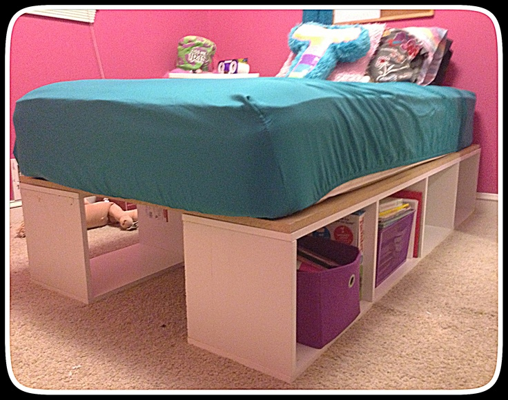 Hand made storage bed frame!!!! Love it!