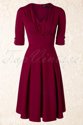 1be07c130864 40s June Dress in Raspberry Red in 2019