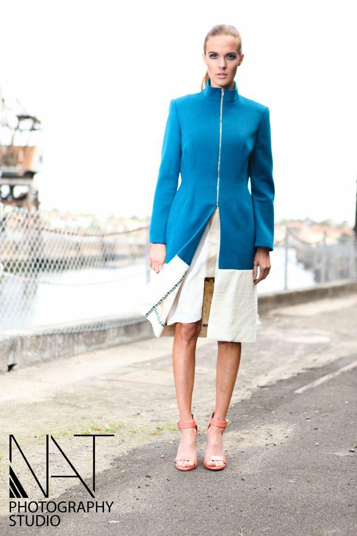 The Midas coat. Wool/silk.  Photography - Nancy Trieu Model - Indeya Passfield