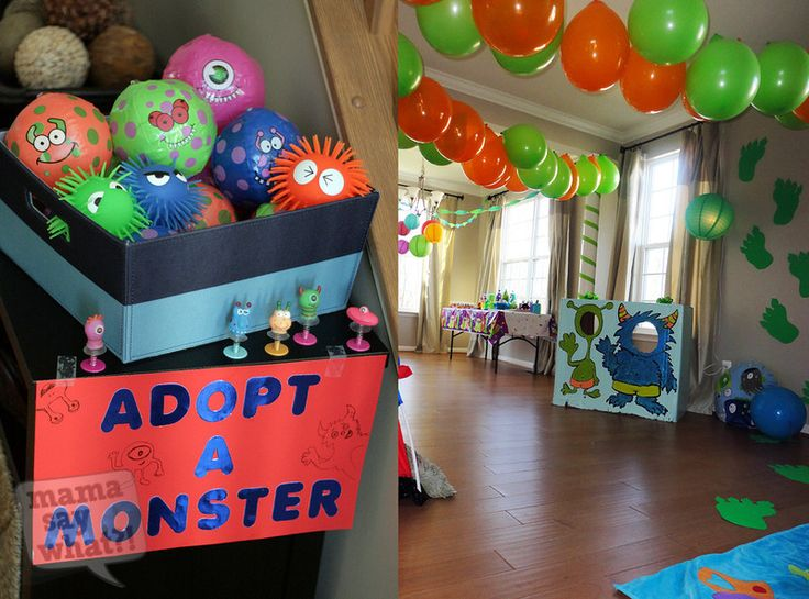 Monster Themed Birthday Party Decorations monster themed birthday
