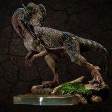 2017 novo Mundo Jurássico Dilophosaurus Dinosaur modelo Antigo biológico Coleção Adulto brinquedos(China (Mainland))