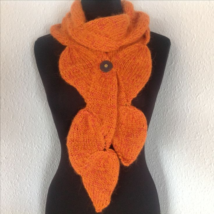 En på bladet - Strikkekit Knitting Kit  www.dragenkunst.dk