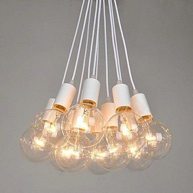 North American Country Edison Bulbs Art Chandelier - USD $ 239.99