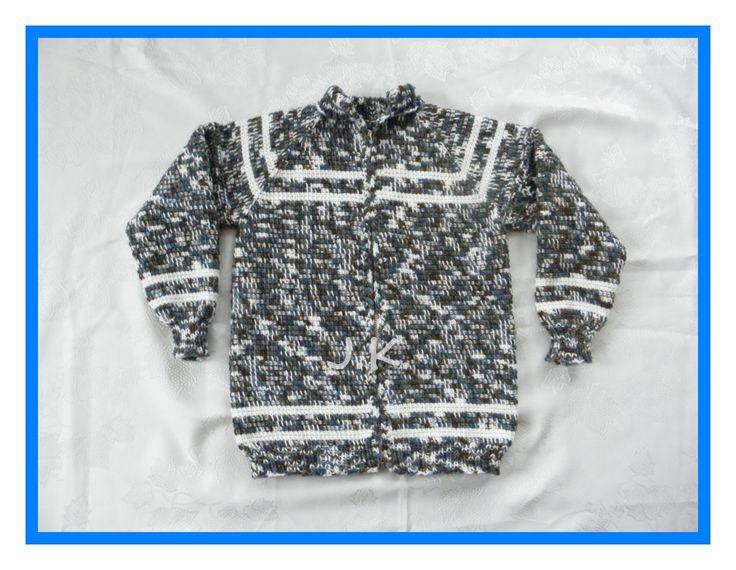 Chlapecký svetr - tuniské háčkování